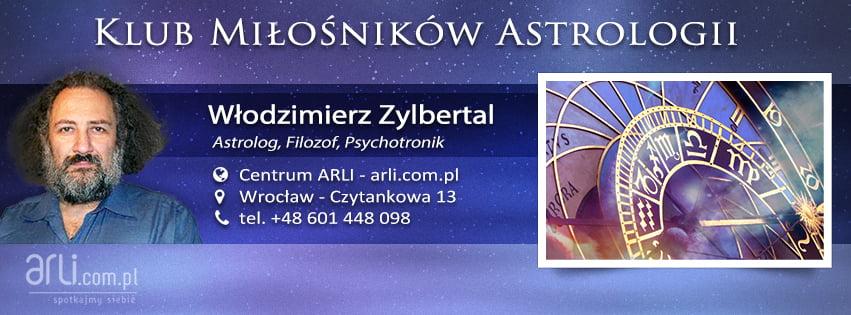 Klub Miłośników Astrologii - Włodzimierz Zylbertal - Centrum ARLI, Wrocław - Czytankowa 13, tel.+48. 601 448 098