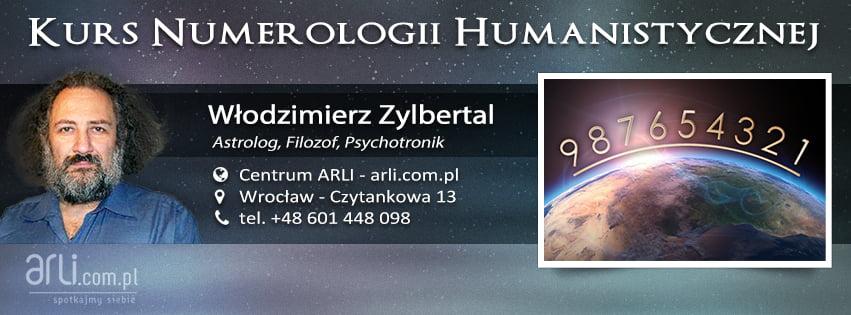 Kurs numerologii humanistycznej - Włodzimierz Zylbertal - Centrum ARLI, Wrocław - Czytankowa 13, tel.+48. 601 448 098