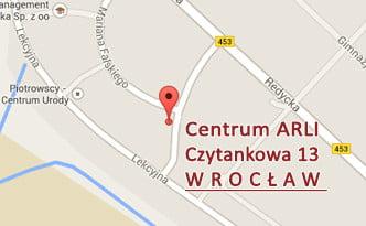 Mapa - Centrum ARLI - Czytankowa 13 - Wrocław